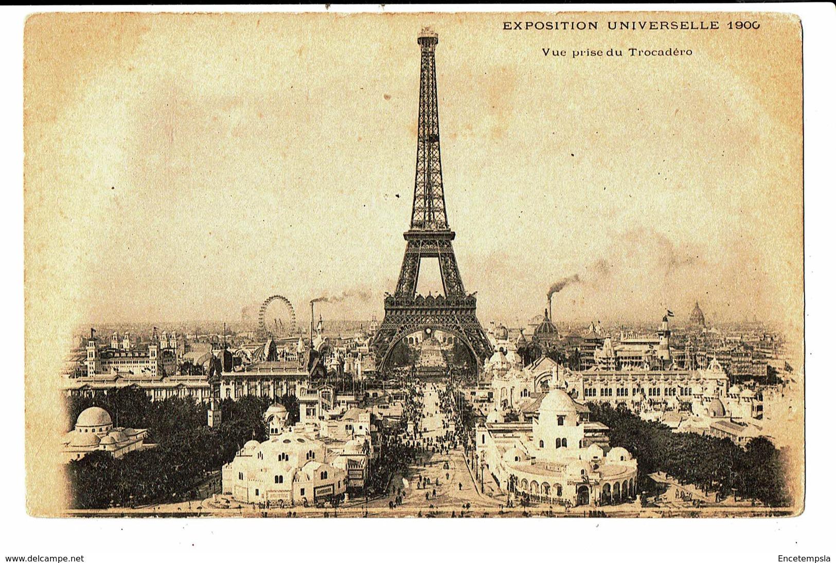 CPA- Carte Postale -FRANCE- Paris Exposition Universelle-1900-Vue Prise Du Trocadero - VM5119 - Exhibitions