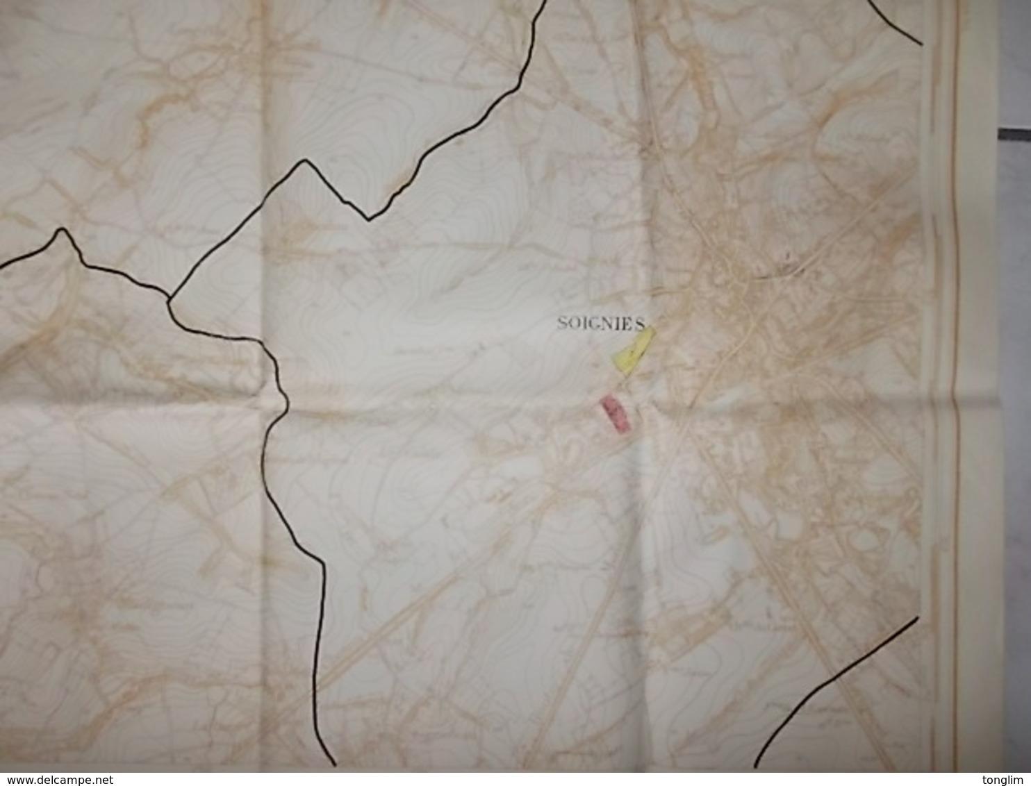 MILITAIRE  PLAN DE SOIGNIES  1947 - Documents