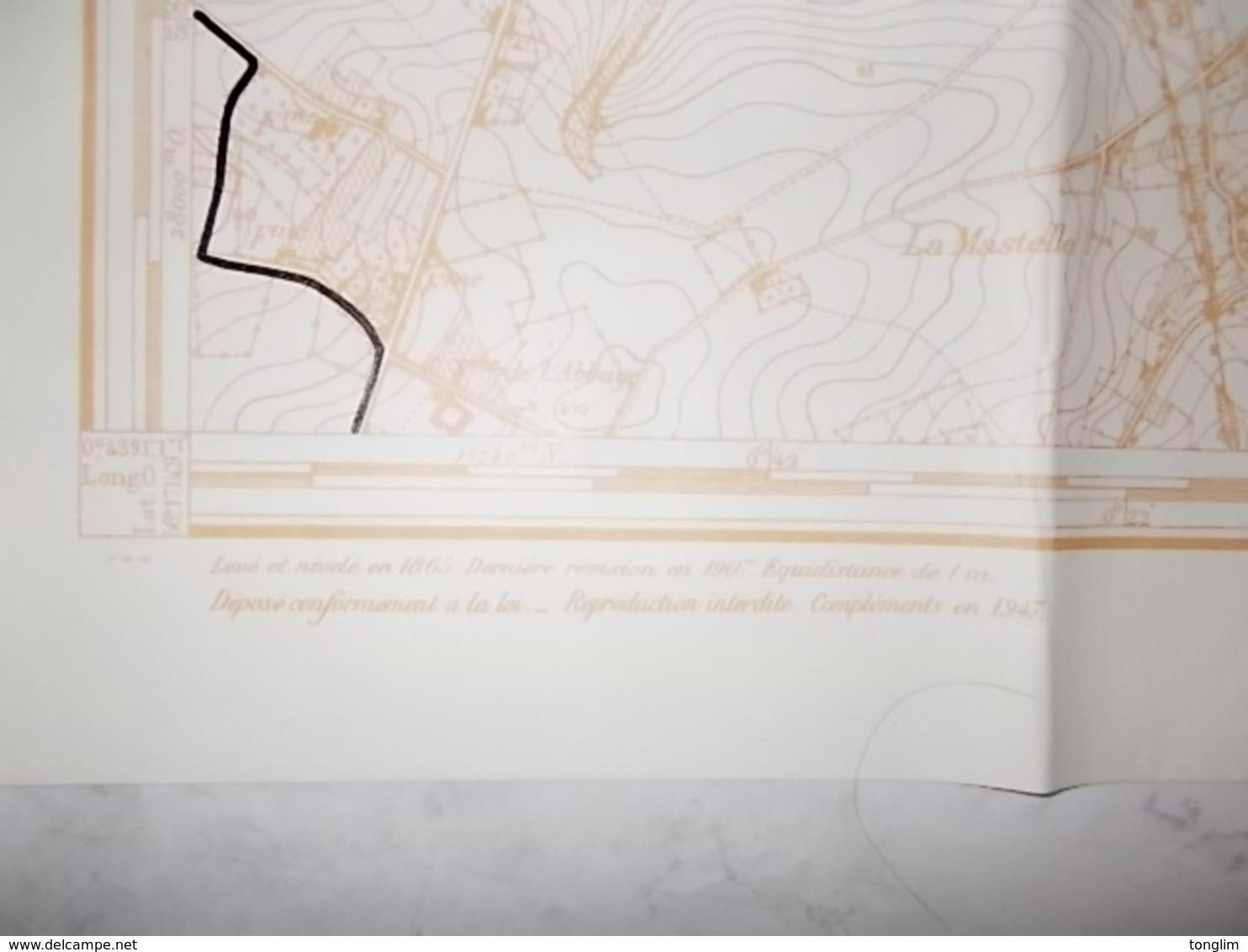 Hainaut PLAN DE SOIGNIES  1947 - Technische Plannen