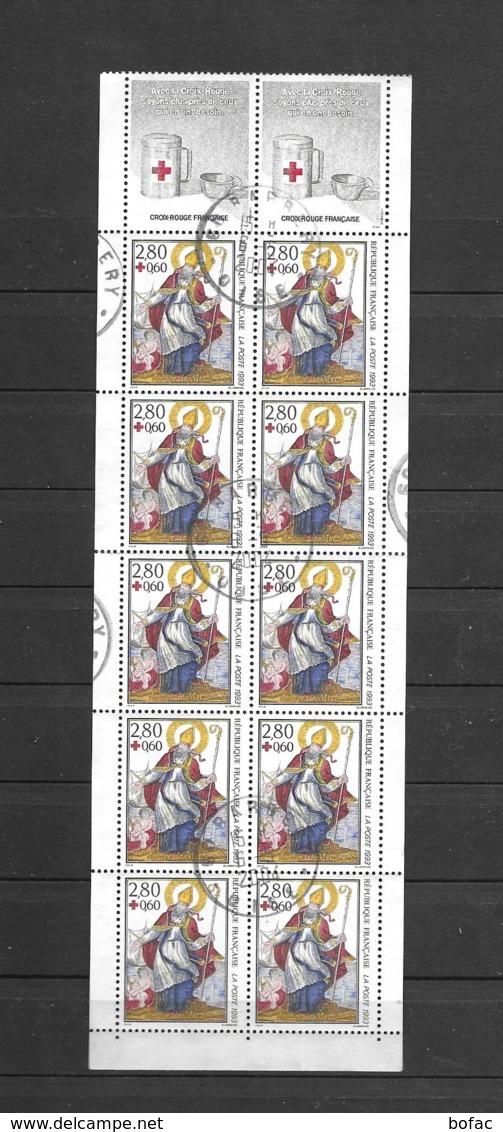 CA  2042  TB 2853  OBL  Y & T  L'imagerie De Metz  « Au Profit De La Croix Rouge »  22/45 - Red Cross