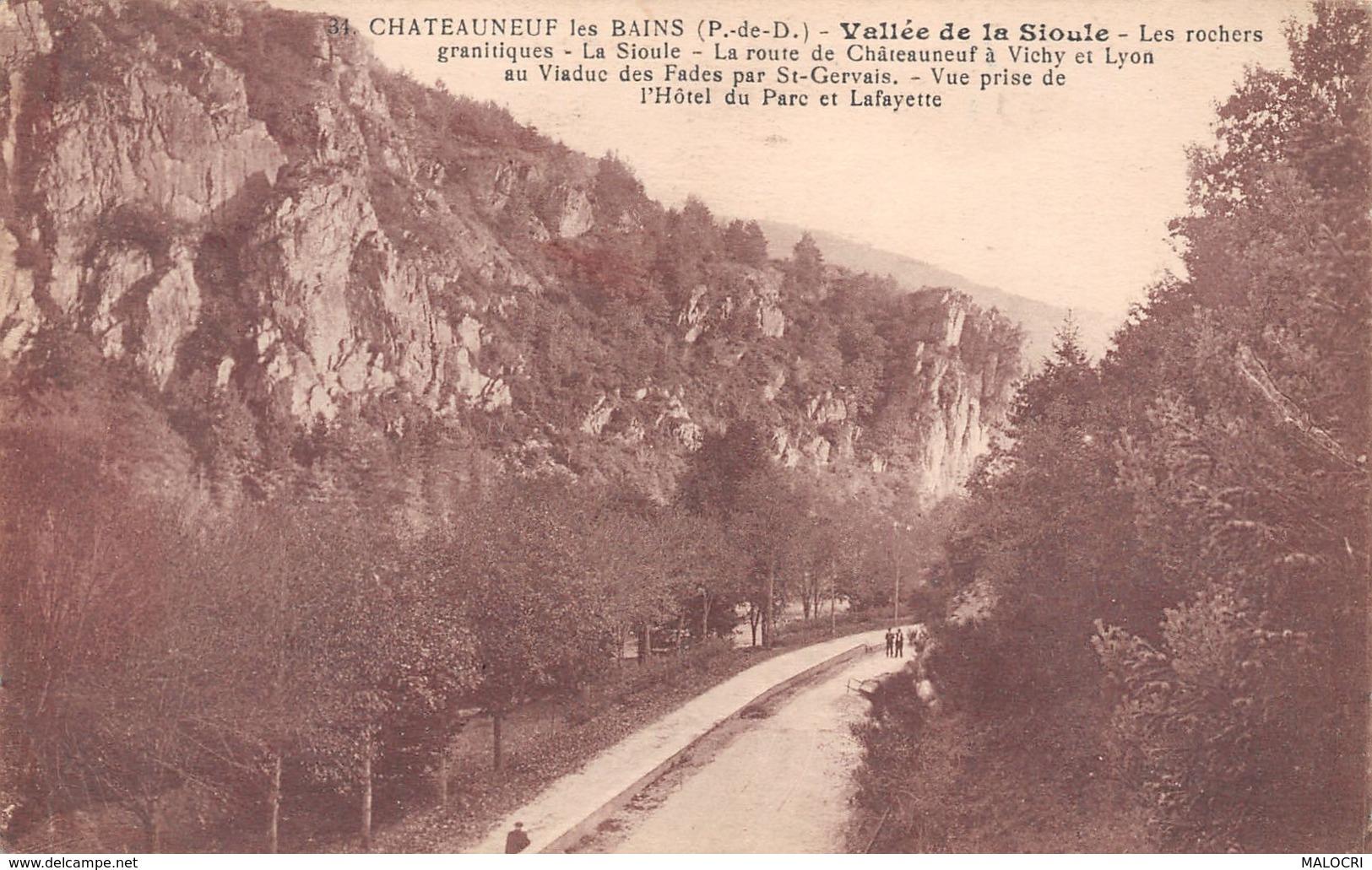 63-CHATEAUNEUF LES BAINS-N°1200-B/0323 - Autres Communes