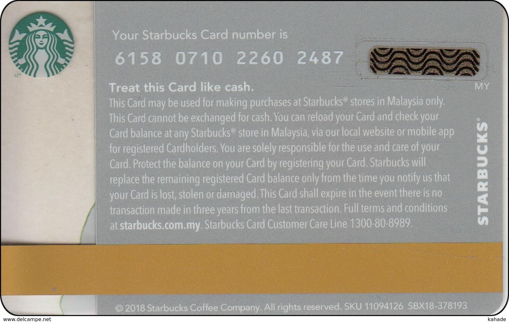 Malaysia  Starbucks Card Diwali 2018  2018-6158 - Gift Cards