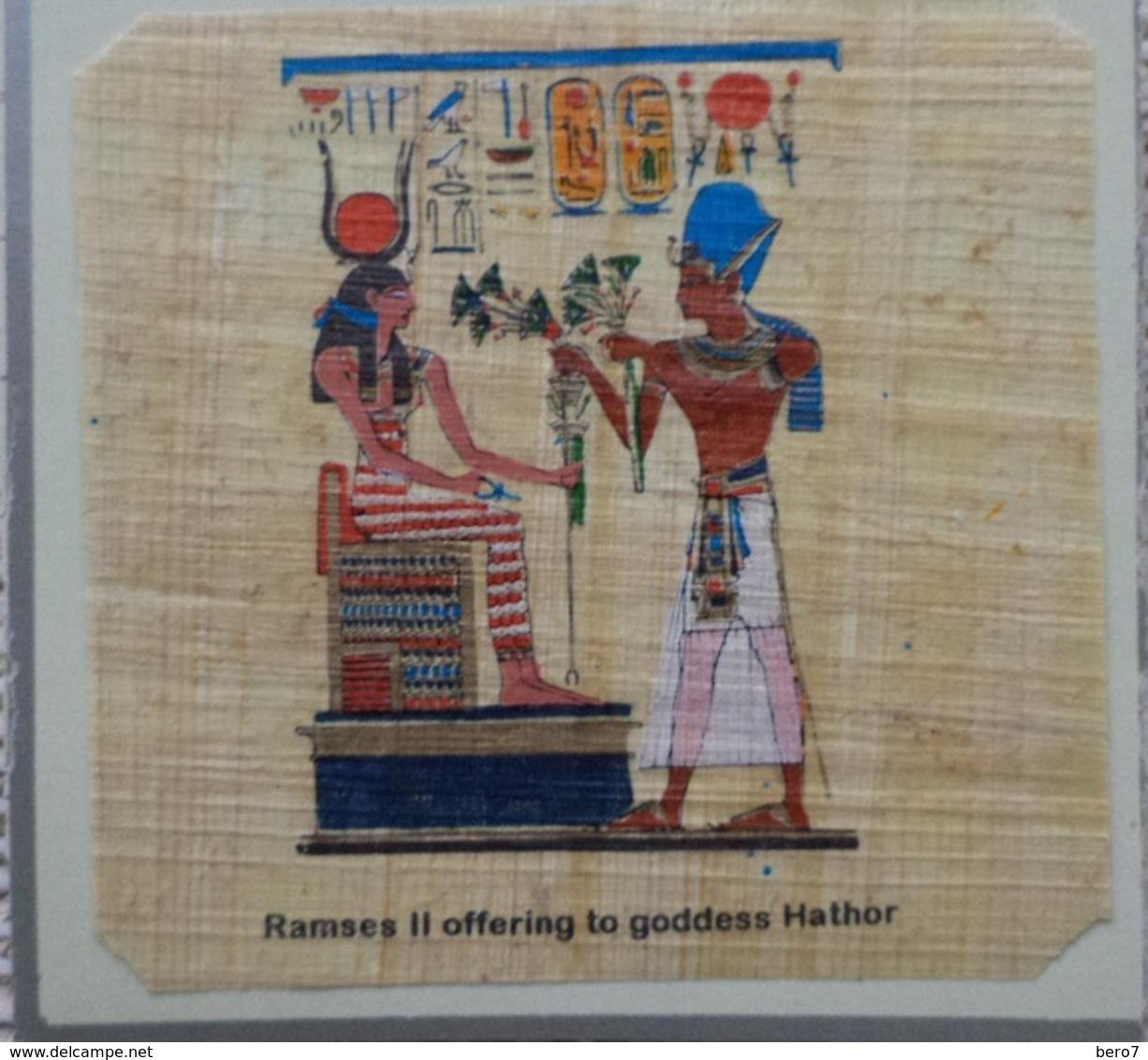 Egypt - Papyrus - Ramses II - Dessins