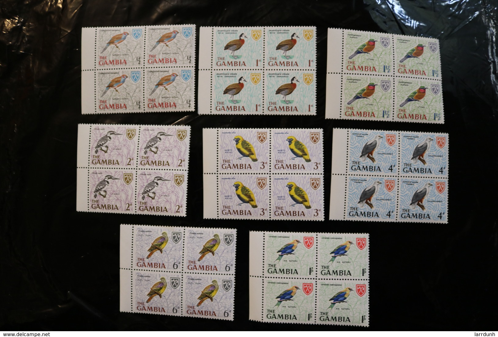 Gambia 215-222 Birds Blocks Of Four MNH 1966 A04s - Gambia (1965-...)
