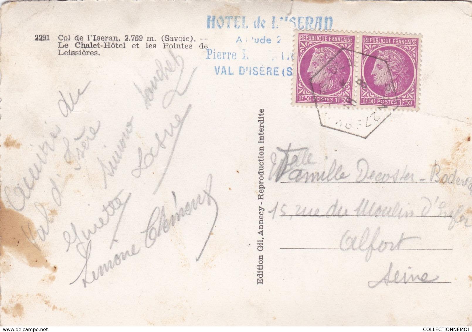 COL DE L'ISERAN ,hotel De L'ISERAN,avec Voitures Traction Avant,et Divers Véhicule (lot 61) - Frankreich