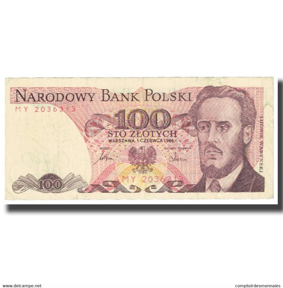 Billet, Pologne, 100 Zlotych, 1986, 1986-06-01, KM:143b, TB - Pologne