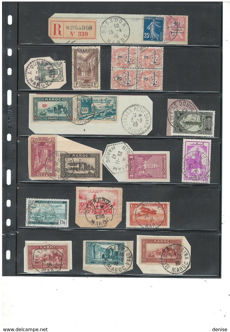 Maroc - Lot De 168  Piéces - Oblitérations De Qualité  Des Bureaux Du Maroc Français - DEPART 1 EURO - Used Stamps
