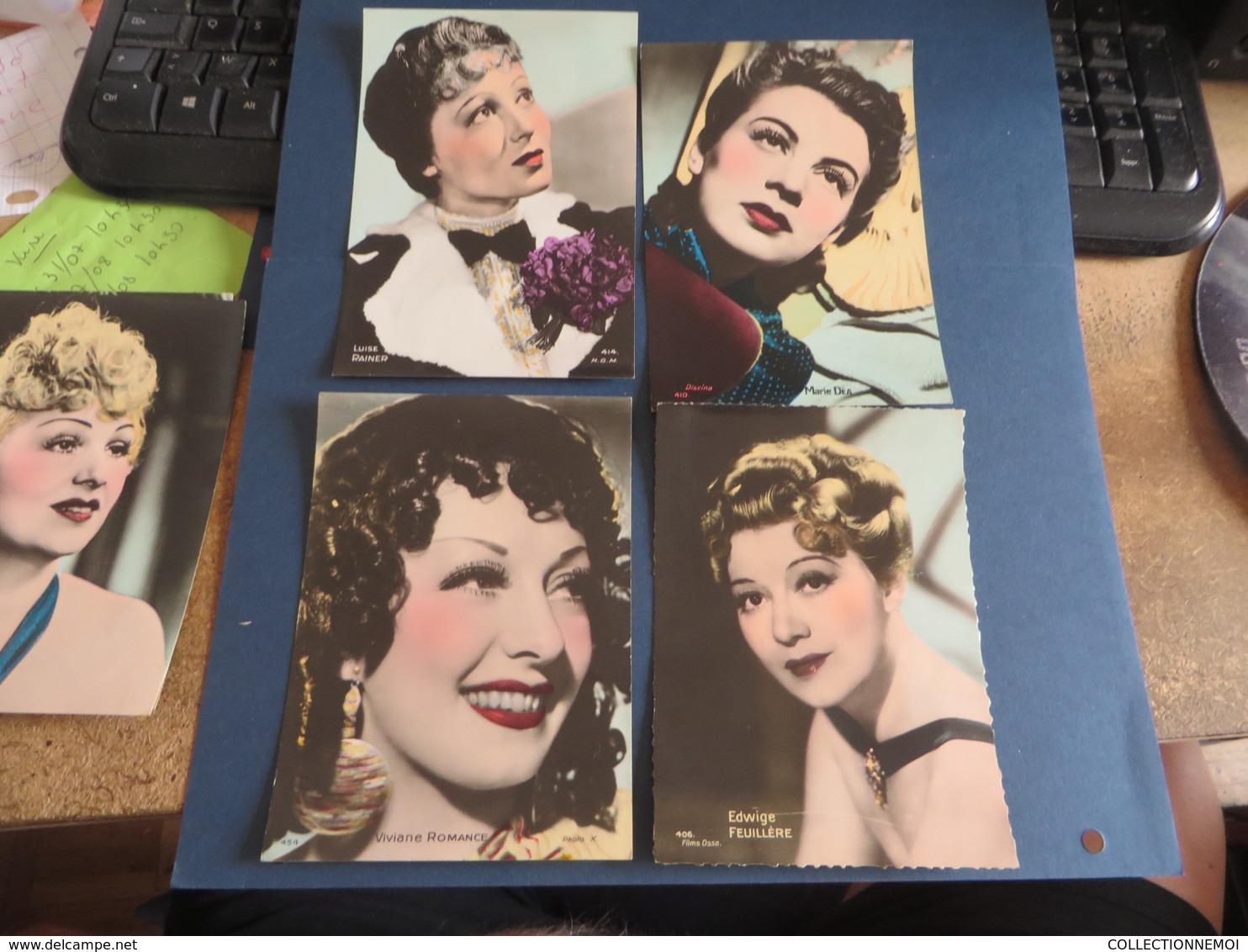 14 Cartes (dos Blanc Format Carte) D'acteurs Et Actrices Célébres Dont Charles BOYER,edwige FEUILLERE(lot64) - Künstler