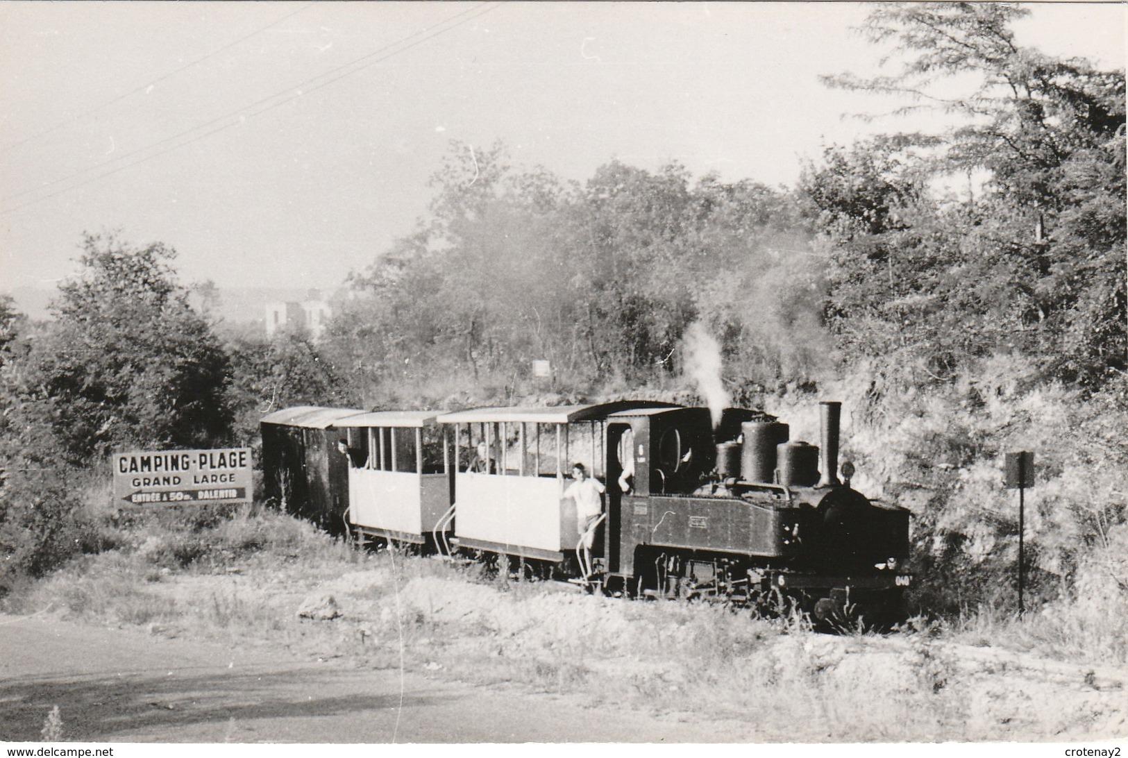 69 MEYZIEU VOIR DOS Chemin De Fer Touristique Train Locomotive à Vapeur 3 Wagons Pancarte Camping Plage Edition CFTM - Meyzieu