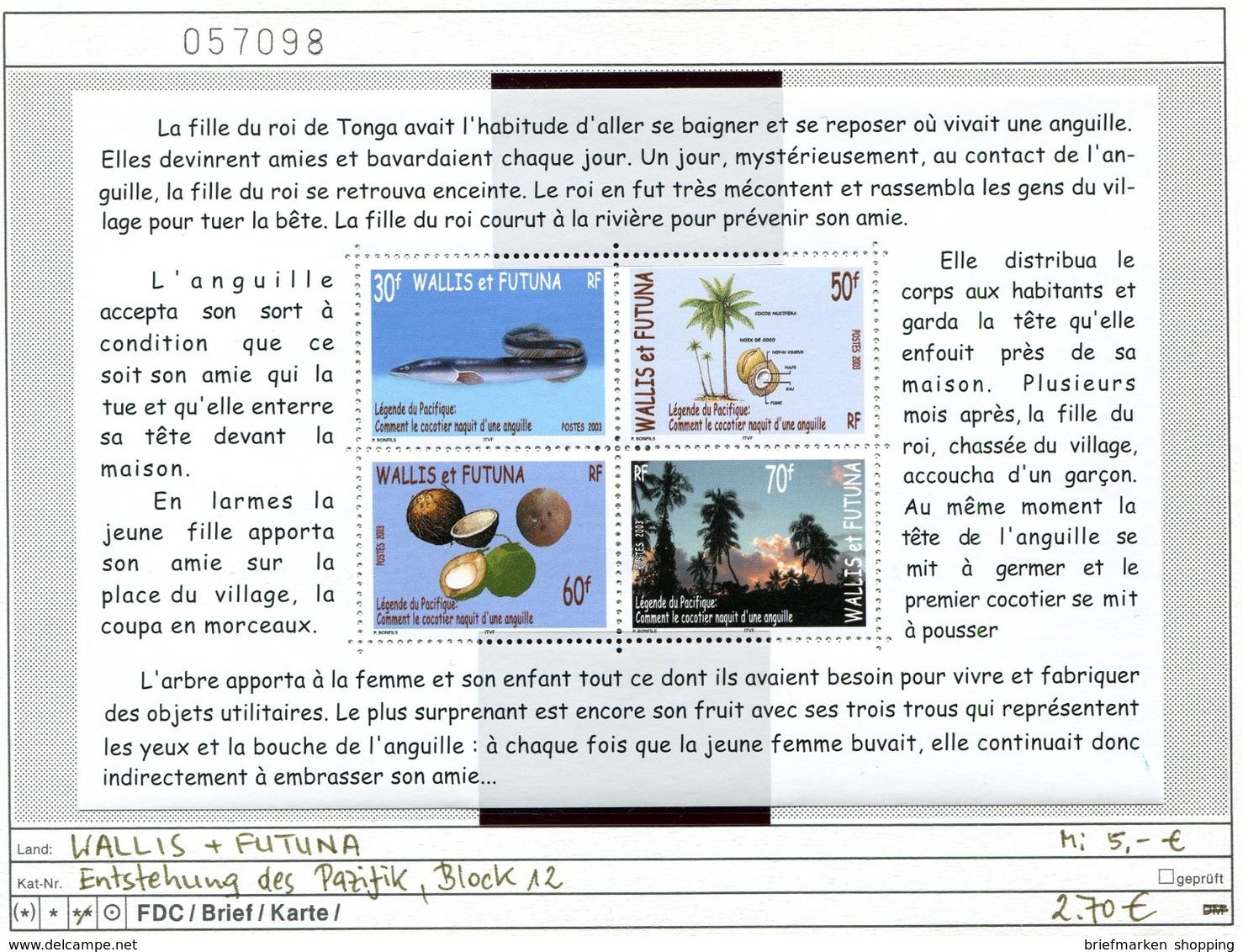 Wallis & Futuna - Michel Block 12 -  ** Mnh Neuf Postfris - - Wallis Und Futuna