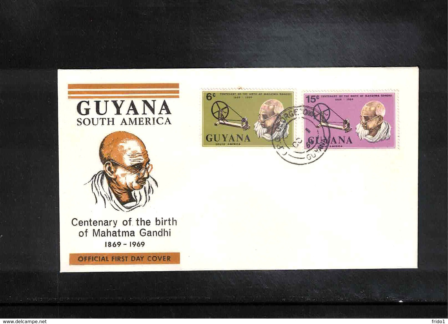 Guyana 1969 Mahatma Gandhi FDC - Mahatma Gandhi