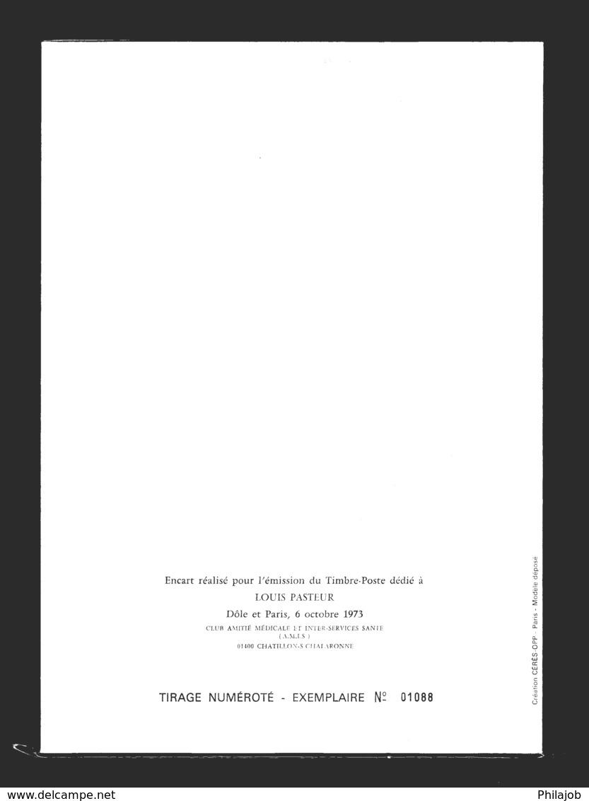 """"""" LOUIS PASTEUR """" Sur Encart 1er Jour N°tée De 4 Pages. Obl. Dole Et Paris. 2 X N° YT 1768. Parfait état.  FDC - Louis Pasteur"""