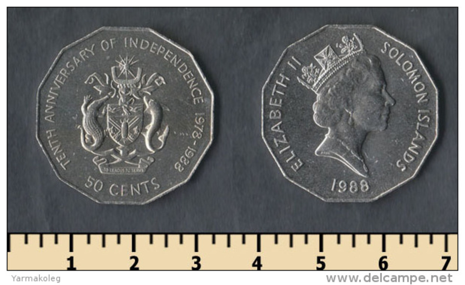 Solomon Islands 50 Cents 1988 - Salomonen