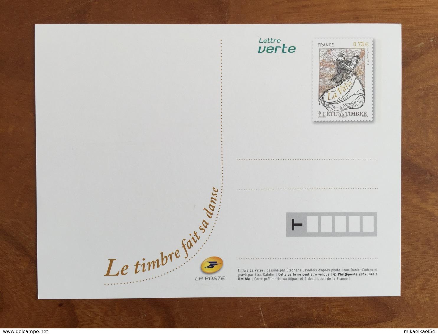 """CARTE POSTALE PRE TIMBREE FETE DU TIMBRE 2017 """"LE TIMBRE FAIT SA DANSE"""" - Neuf - Prêts-à-poster:  Autres (1995-...)"""
