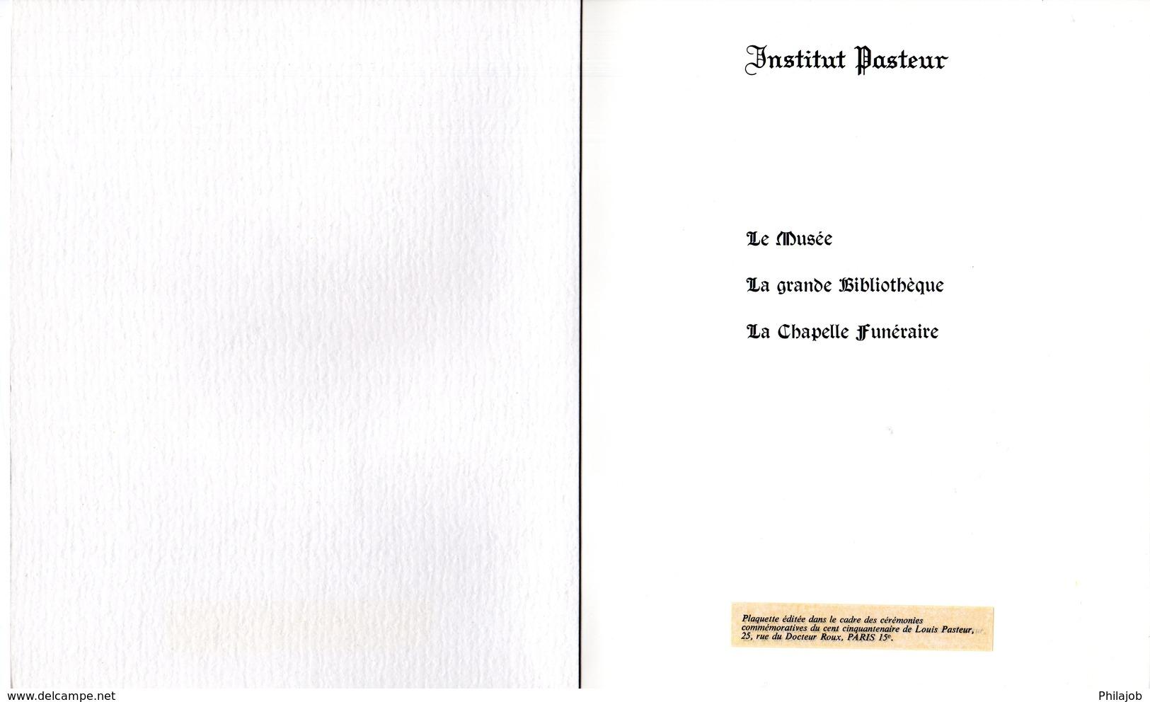 """Plaquette 1er Jour De 24 Pages """" LOUIS PASTEUR """". Obl. Dole Et Paris. 2 X N° YT 1768. Parfait état.  FDC - Louis Pasteur"""