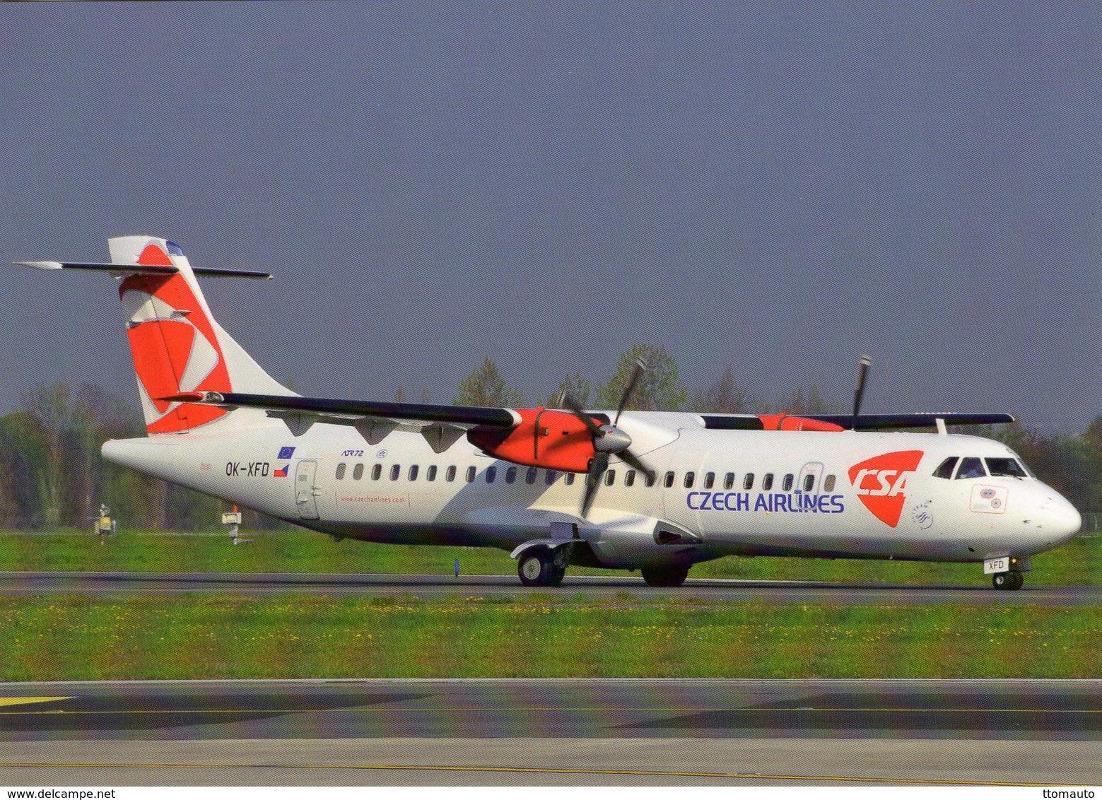 ATR-72-212  -  CSA Czech Airlines - Prague 2008  -  CPM - 1946-....: Ere Moderne