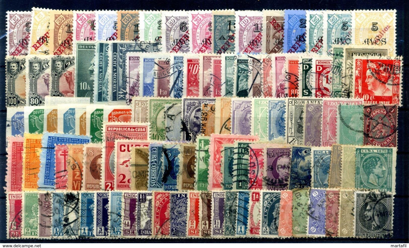 LOT WORLD STAMPS - Classici, MNH **, Annullati, Alto Valore Di Catalogo // Partenza 1€ - Francobolli