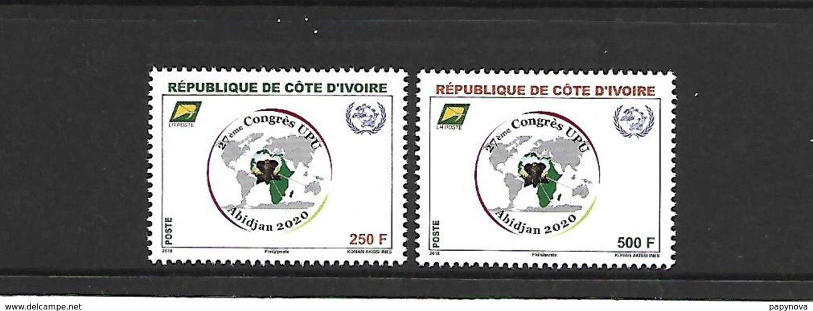 COTE D'IVOIRE 2018 27EME CONGRES UPU NEUFS ** - Côte D'Ivoire (1960-...)