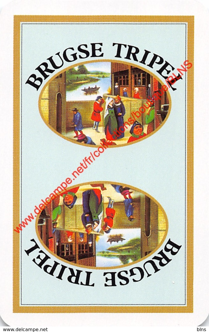 BRUGSE TRIPEL - 1 Speelkaart - 1 Carte à Jouer - 1 Playing Card. - Cartes à Jouer Classiques