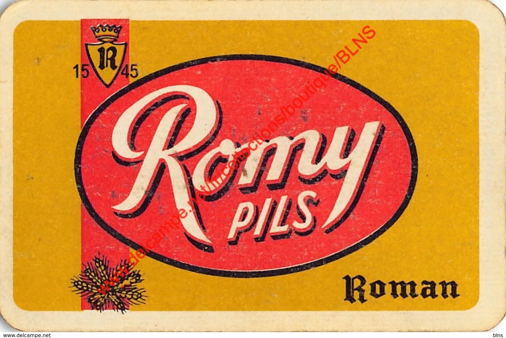 ROMY Pils - Brouwerij Roman - 1 Speelkaart - 1 Carte à Jouer - 1 Playing Card. - Cartes à Jouer Classiques
