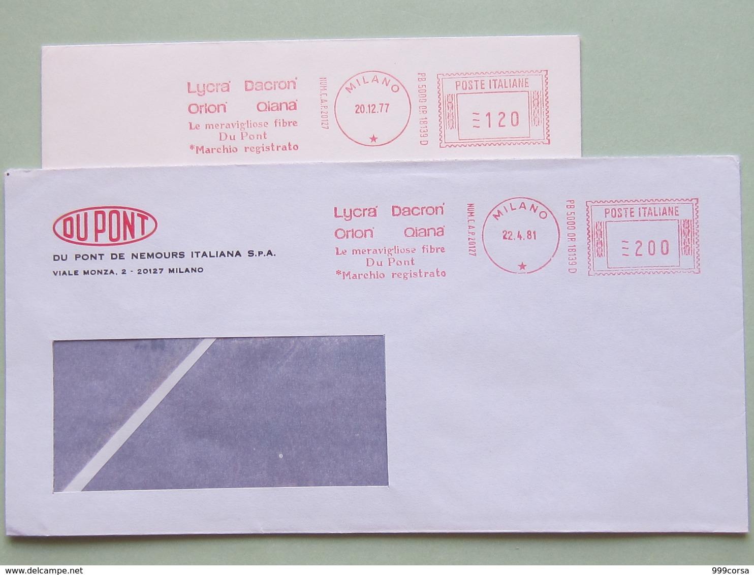 Industria Chimica, Tessili, Du Pont, Fibre Sintetiche,(DZ) 2 Affranc. Meccaniche Diverse, Ema, Meter,1977 E 1981 - Fabbriche E Imprese