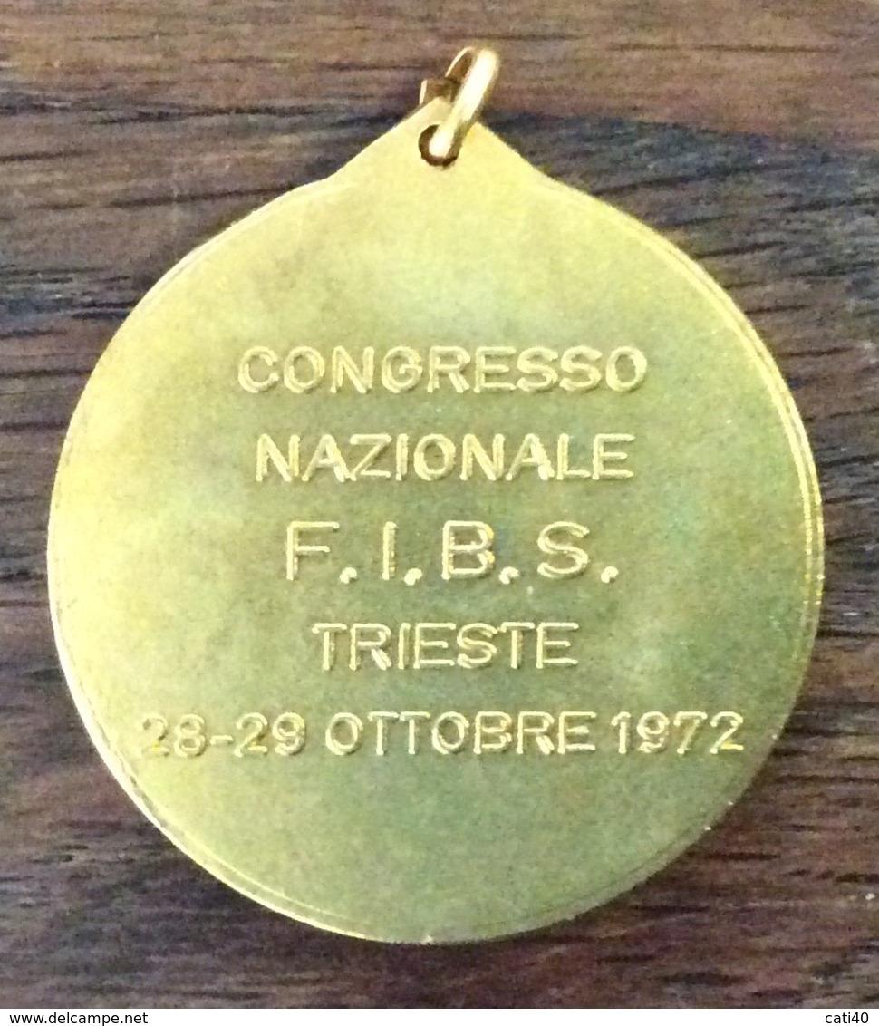SPORT  F.I.B.S. BASEBALL E SOFTBALL CONGRESSO NAZIONALE TRIESTE 1I972 MEDAGLIA REGIONE AUTONOMNA FRIULI VENEZIA G. - Abbigliamento, Souvenirs & Varie