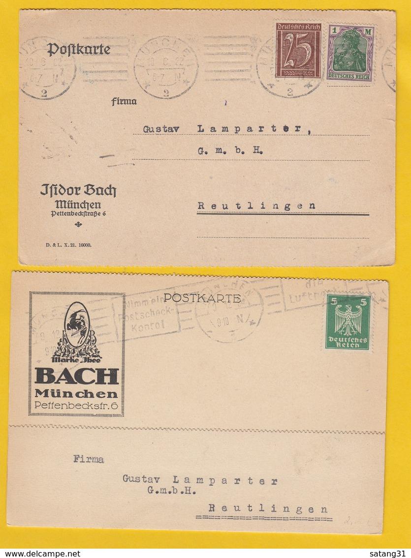 ISIDOR BACH,MÜNCHEN.2 KARTEN. - Deutschland