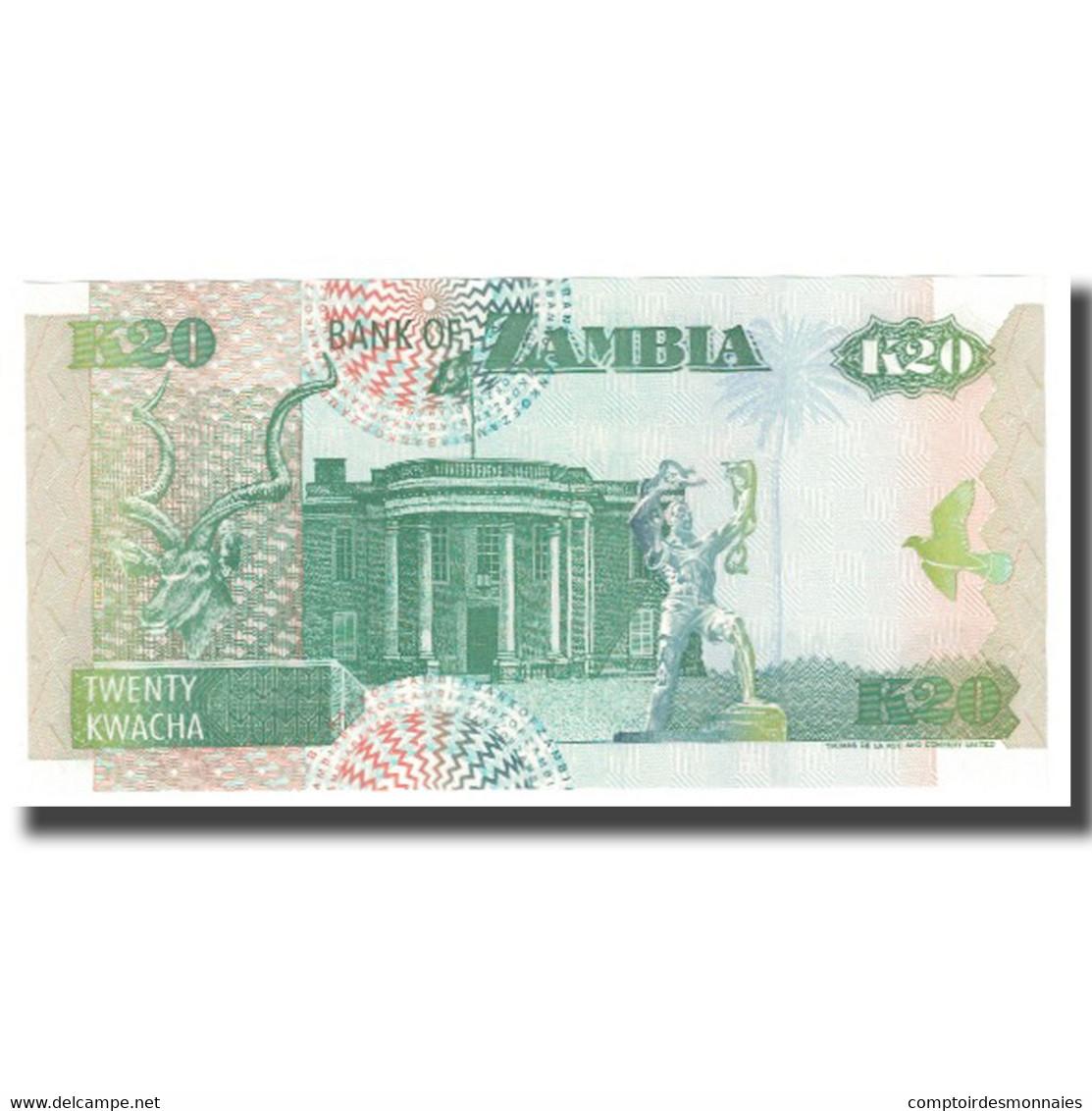Billet, Zambie, 20 Kwacha, KM:36a, NEUF - Zambie