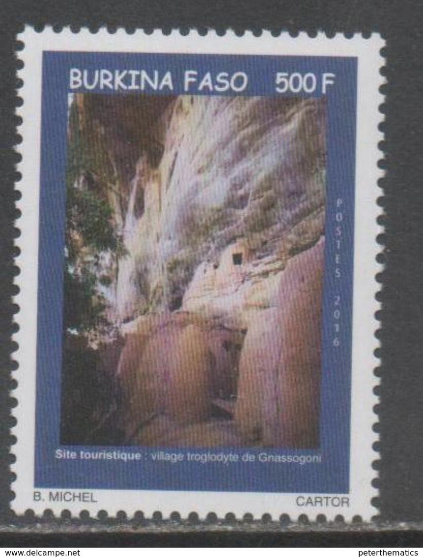 BURKINA FASO, 2016, MNH, TOURISM, ROCKS, VILLAGES,GNASSOGONI,   1v, SCARCE - Holidays & Tourism