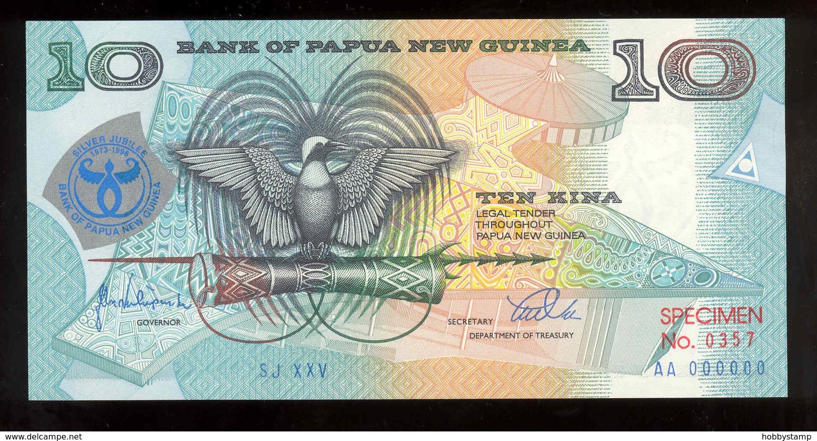 Papua New Guinea 1998 10 Kina Specimen Commemorative №357 AUNC-UNC - Papua Nuova Guinea
