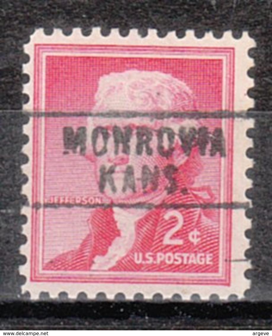 USA Precancel Vorausentwertung Preo, Locals Kansas, Monrovia L-1 HS - Vorausentwertungen