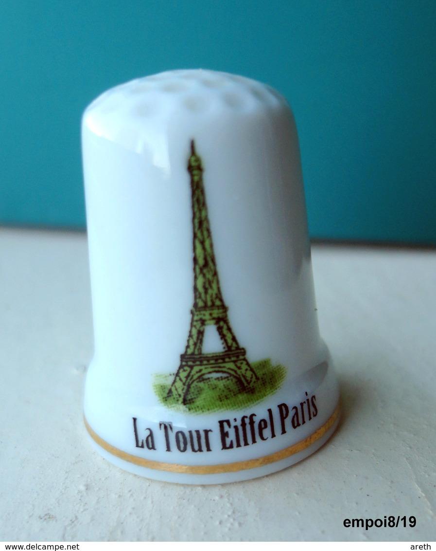 Dé En Porcelaine   -  PARIS LA TOUR EIFFEL - Ditali Da Cucito