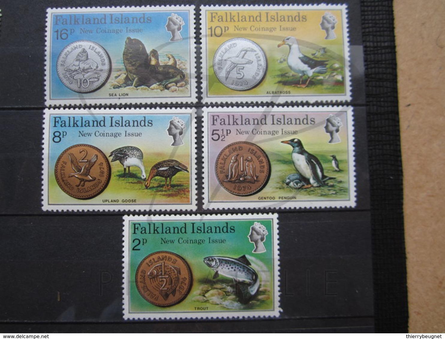 VEND BEAUX TIMBRES DE FALKLAND N° 239 - 243 , XX !!! - Falkland