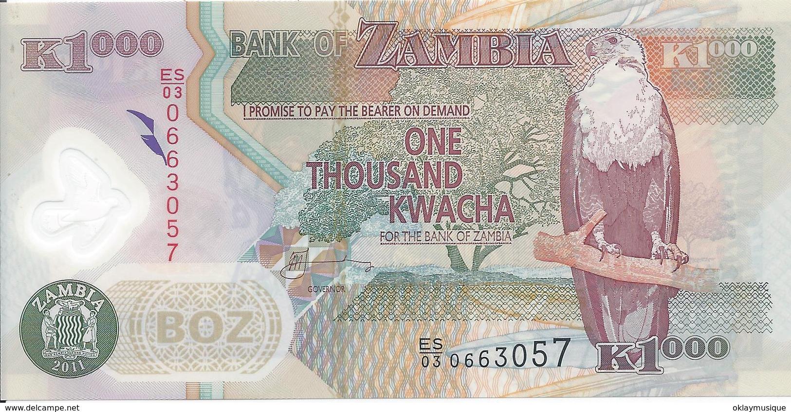 1000 Kwacha 2013 Neuf - Zambie