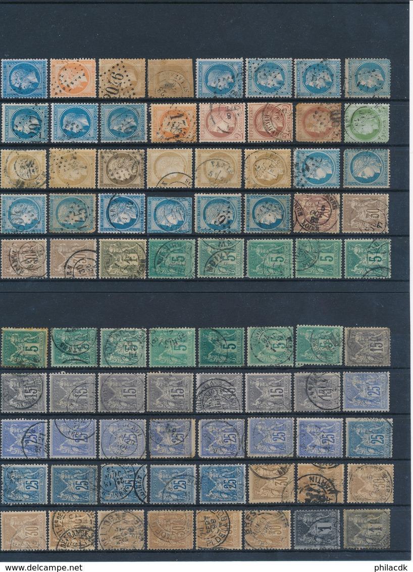 FRANCE - BELLE COLLECTION DE 272 TIMBRES CLASSIQUES OBLITERES POUR ETUDE - VOIR SCANNS RECTO VERSO - Collections