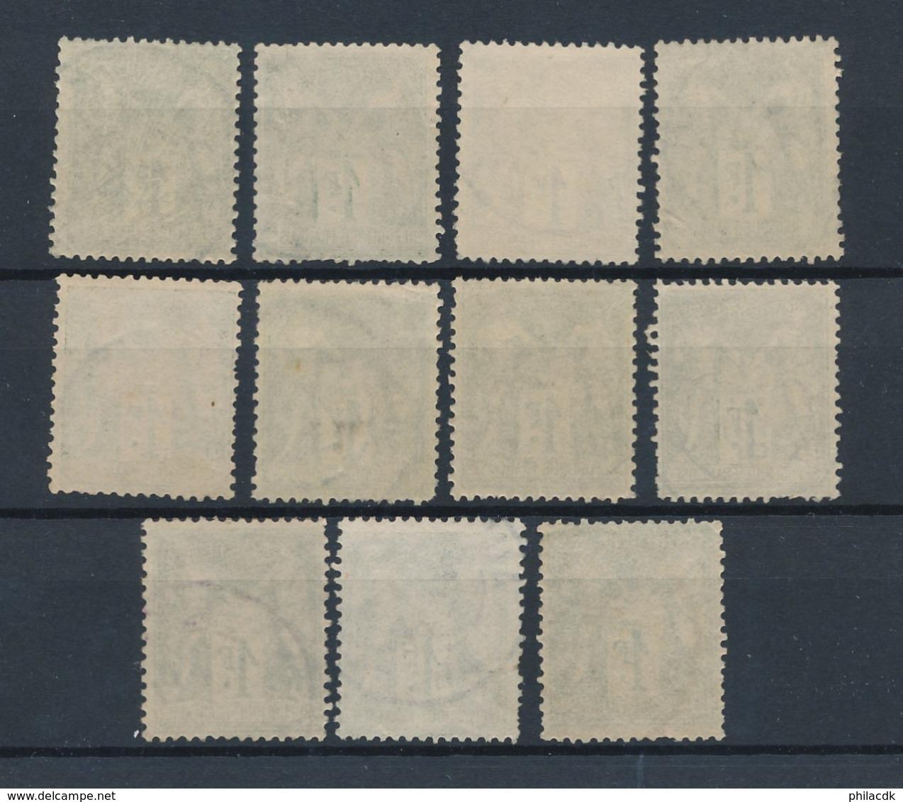 FRANCE - BELLE COLLECTION DE 519 TIMBRES MAJORITE TYPE SAGE OBLITERES POUR ETUDE - VOIR SCANNS RECTO VERSO - Collections