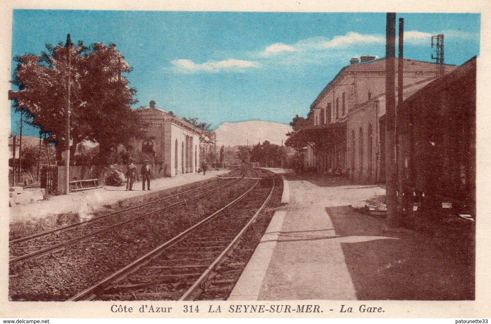 83 LA SEYNE SUR MER INTERIEUR DE LA GARE ANIMEE  COULEUR - La Seyne-sur-Mer