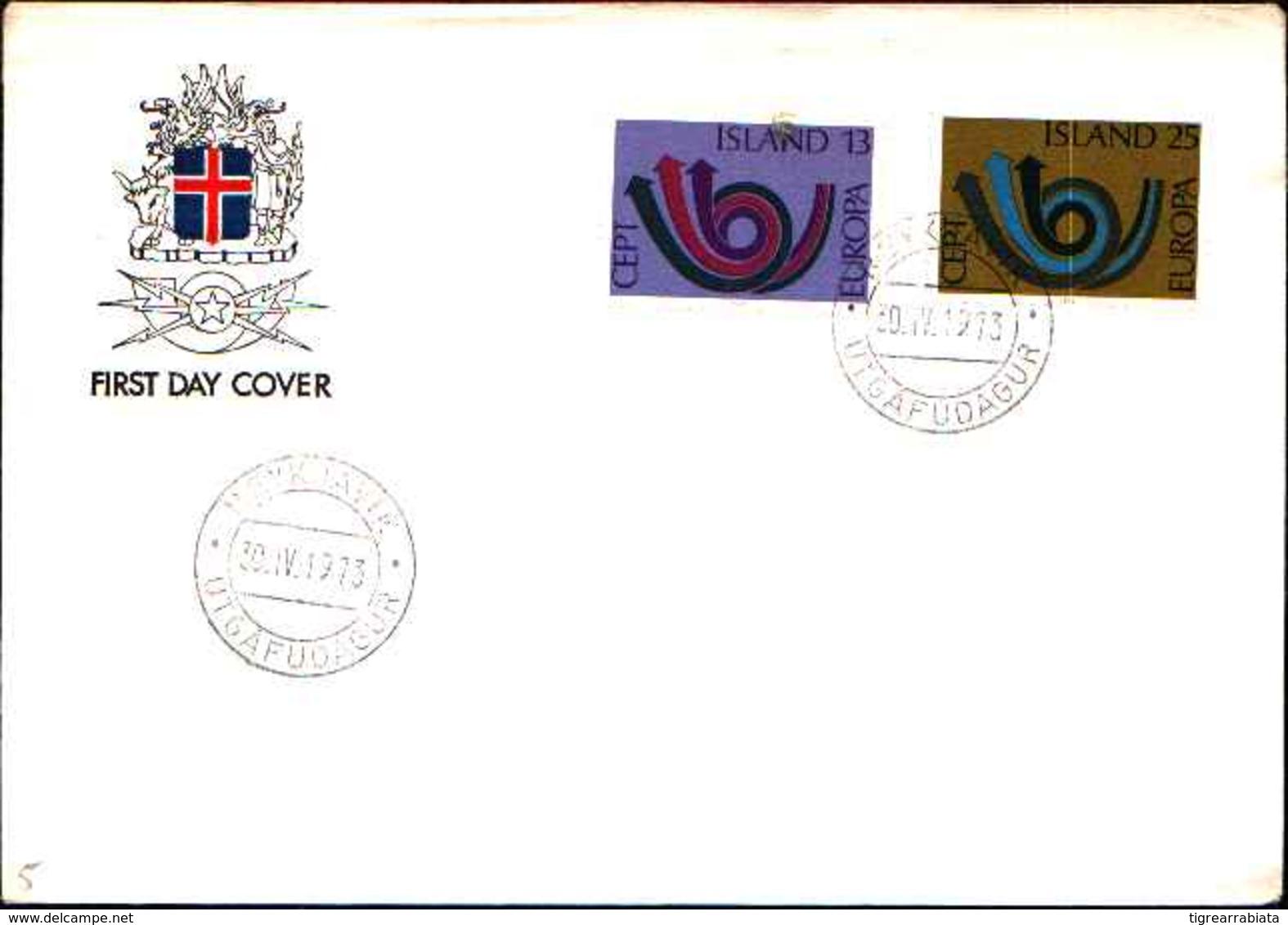12670a) Island-  F.D.C.SERIE COMPLETA  - EUROPA  CEPT DEL1973 - FDC