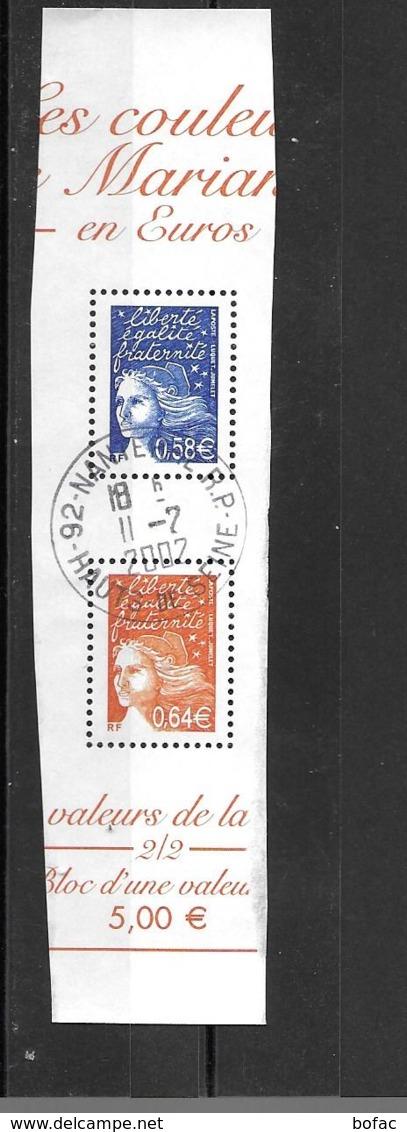 3451 3452  Marianne De Luquet Oblitération De Complaissance  09/30 - France