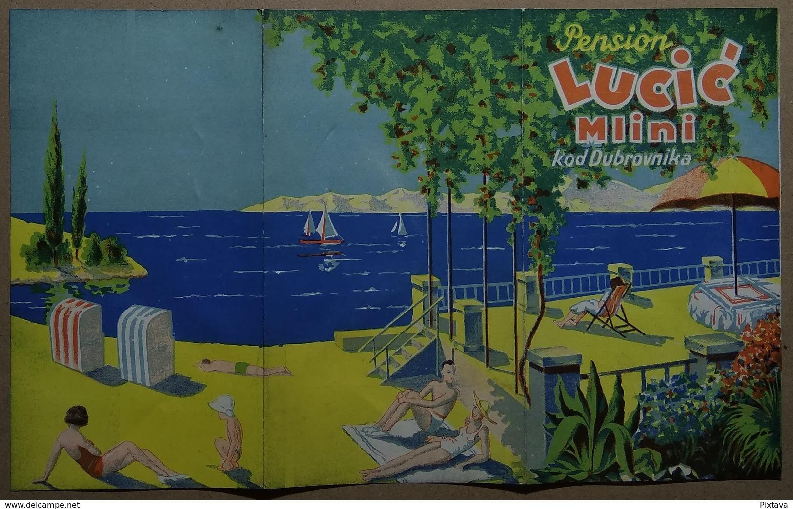 CROATIA - MLINI DUBROVNIK - PENSION LUCIC Publicité Pubblicità FOLDER BROCHURE GUIDE - Tourism Brochures