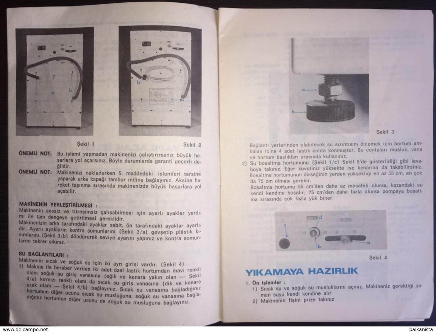 Turkey Arcelik Washing Machine Manuel - Other