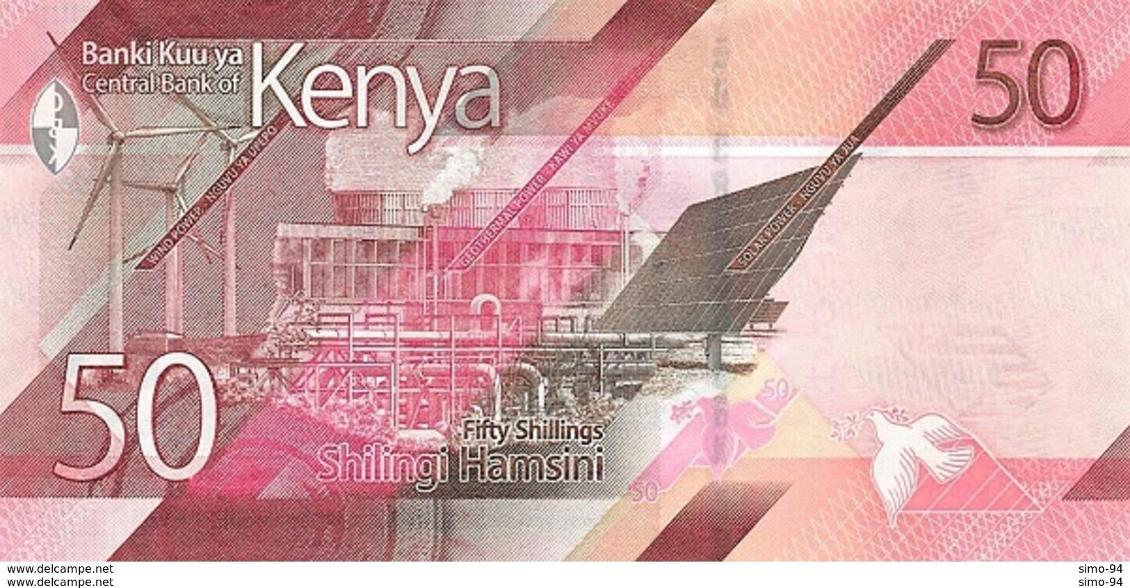 Kenya P.new 50  Shilings 2019 Unc - Kenya