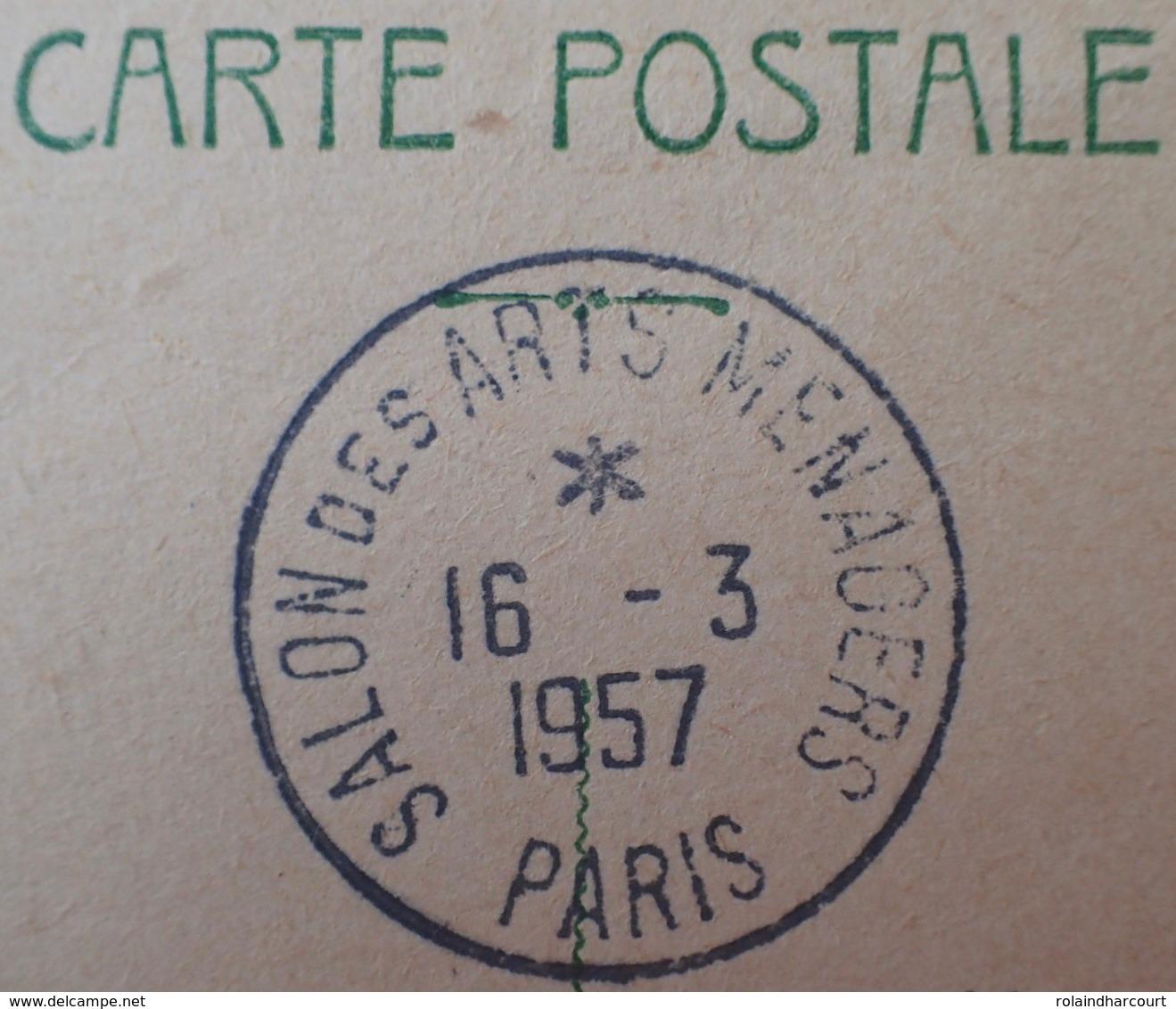 R1591/374 - ENTIER POSTAL Sur CP - TYPE MARIANNE DE MULLER - N°1010-CP1 - CàD De PARIS SALON DES ARTS MENAGERS - Entiers Postaux