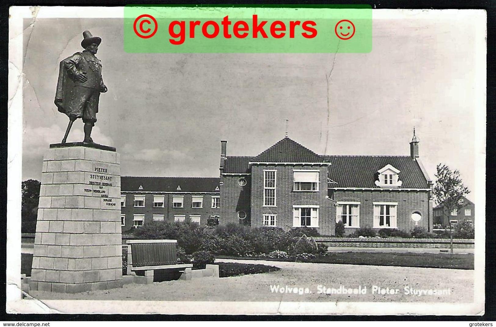WOLVEGA Standbeeld Pieter Stuyvesant 1957 - Wolvega