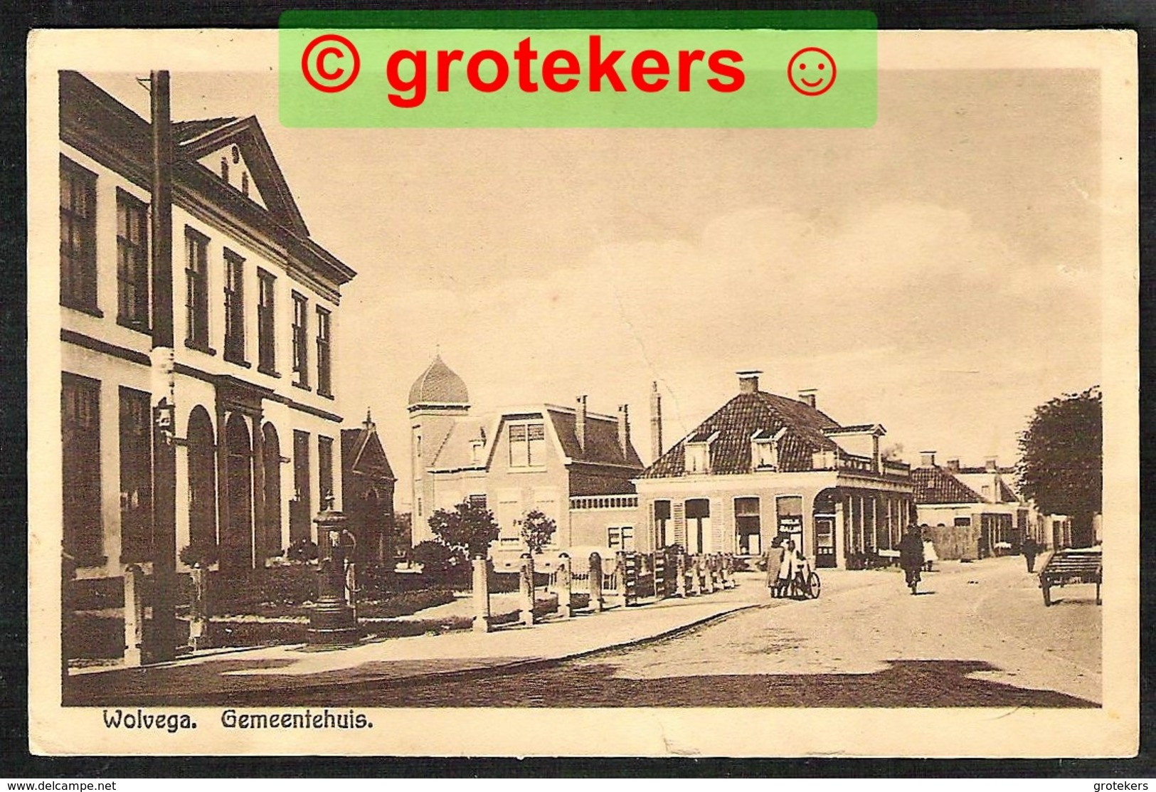 WOLVEGA Gemeentehuis 1946 - Wolvega