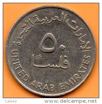 R13/  UNITED ARAB EMIRATES  50 FILS 1973 / 1393 - Emirats Arabes Unis