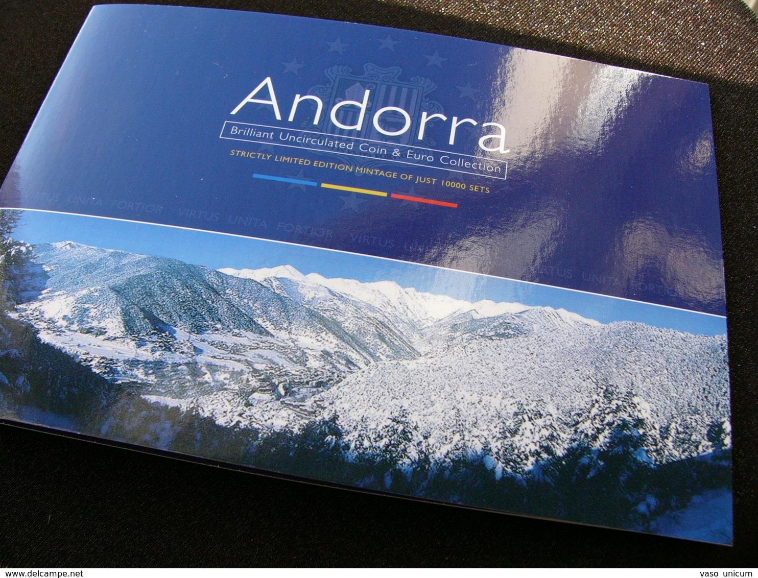 Andorra Set 2002 3x 1 2  2x 5 10 Cents 1  2 Euro Folder - Andorre