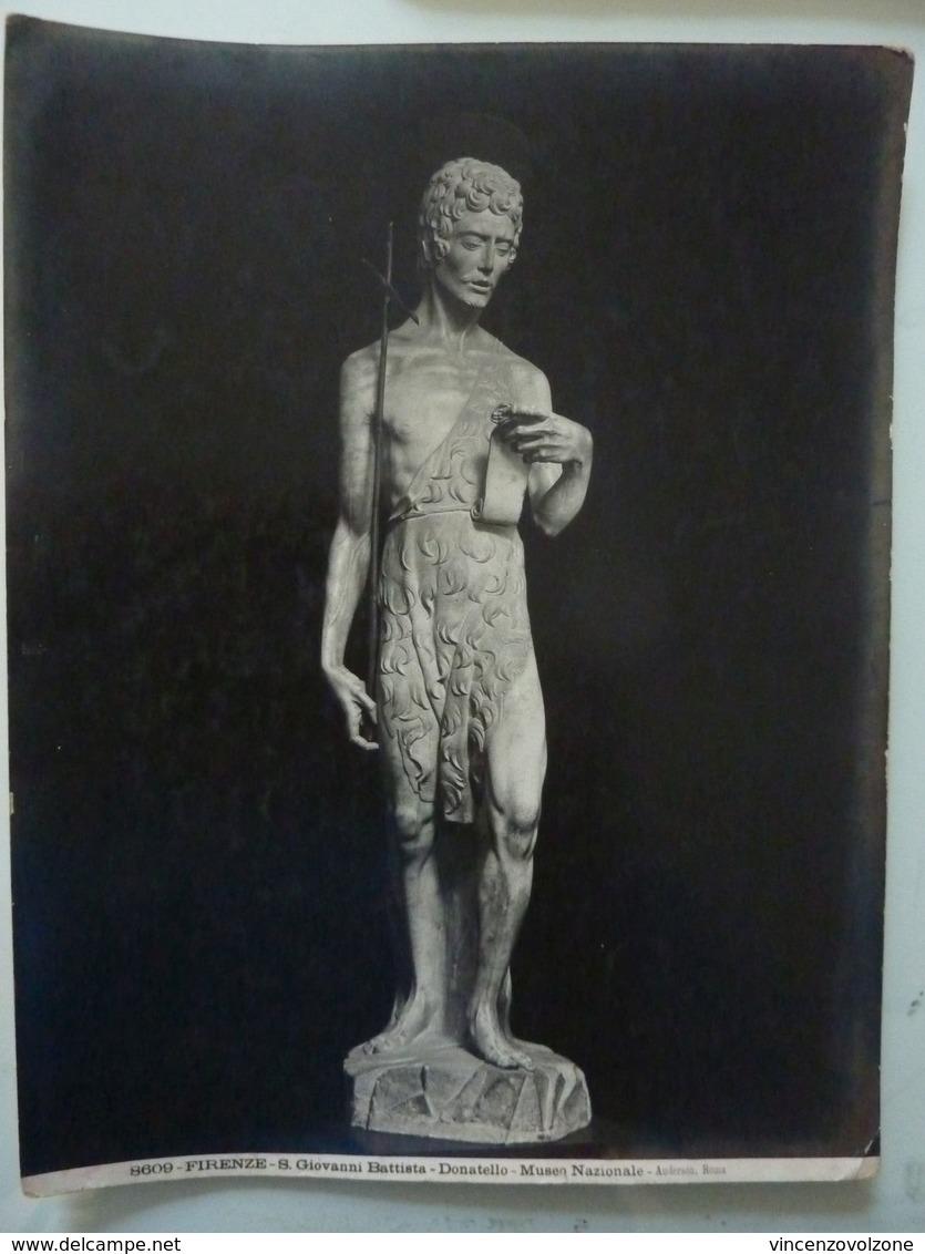 """Fotografia """"FIRENZE - S. Giovanni Battista  - DONATELLO - MUSEO NAZIONALE"""" Ediz. Anderson Anni '20 - Luoghi"""