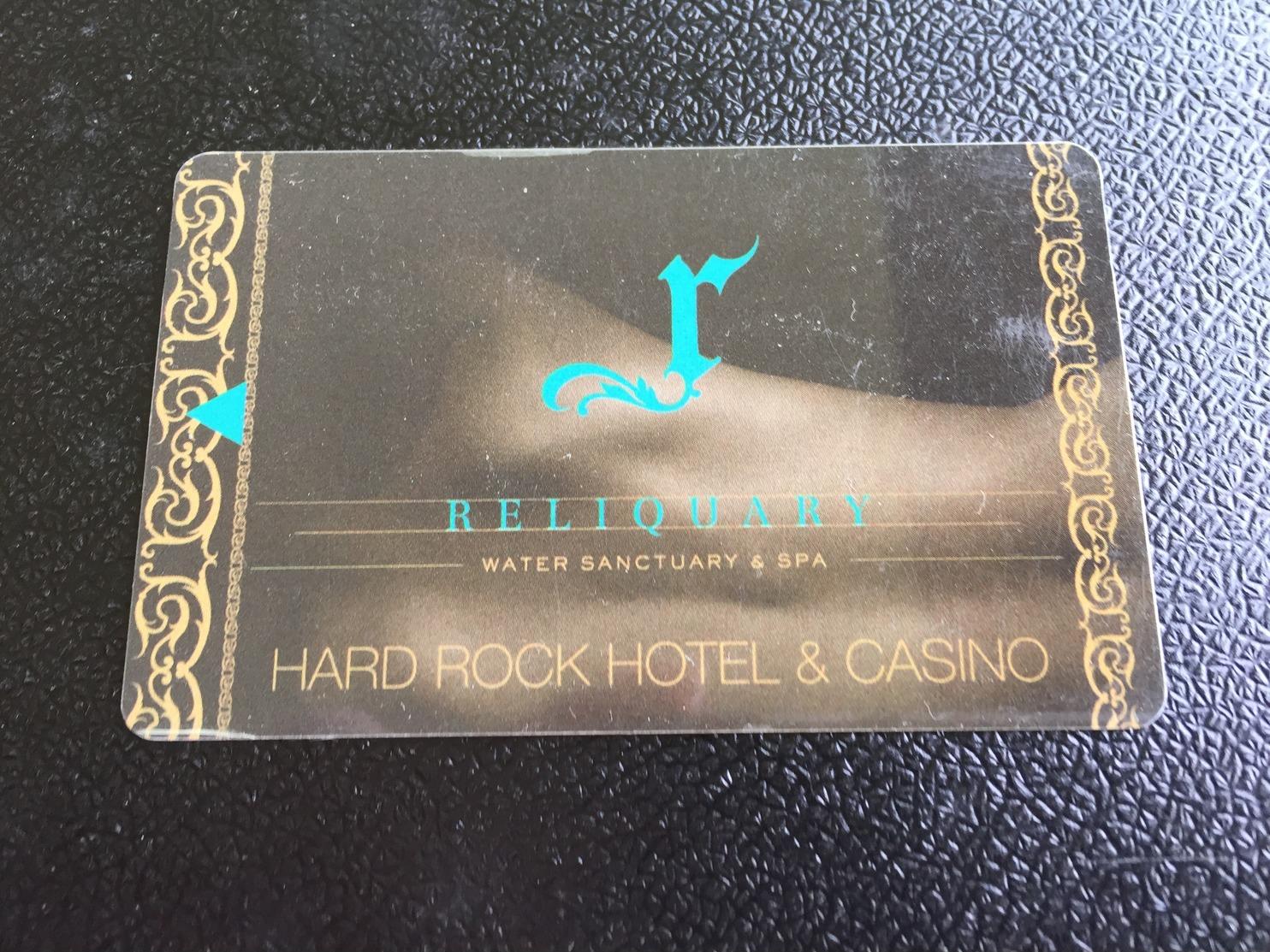 Hotelkarte Room Key Keycard Clef De Hotel Tarjeta Hotel HARD ROCK HOTEL LAS VEGAS RELIQUARY - Telefonkarten