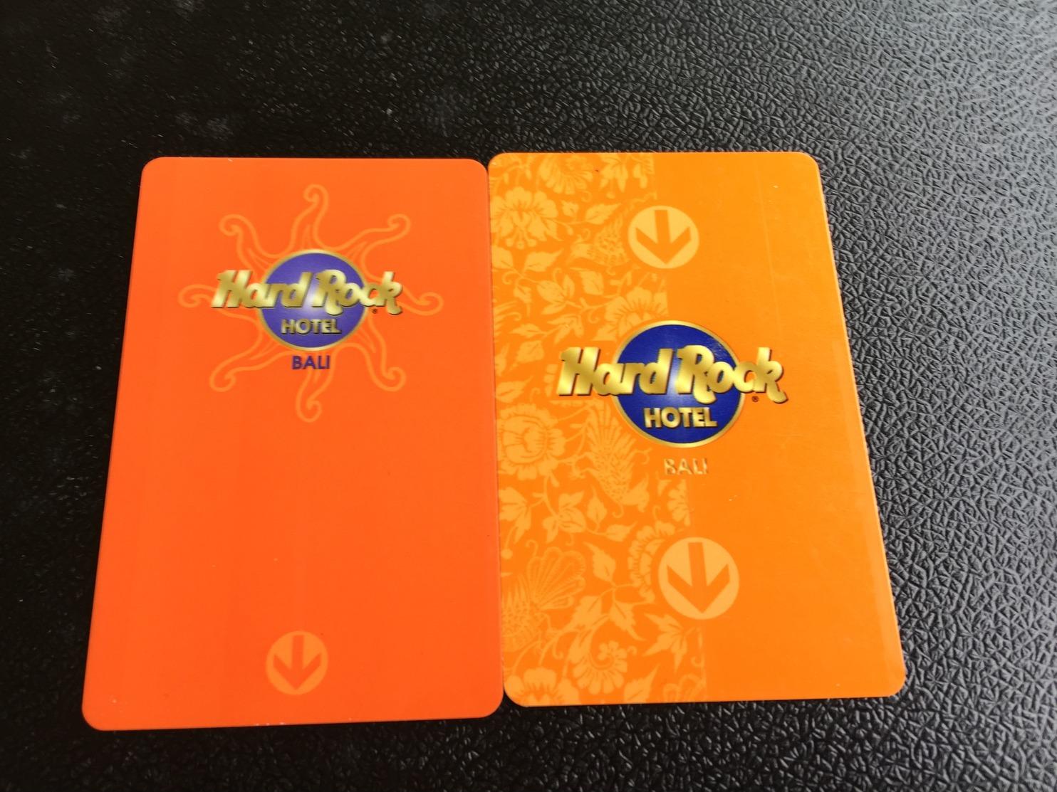 Hotelkarte Room Key Keycard Clef De Hotel Tarjeta Hotel HARD ROCK HOTEL BALI 2 Different - Télécartes